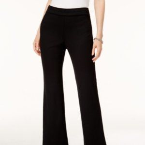 ~ Black Pull-On Ponte-Knit Comfort Band Trousers ~